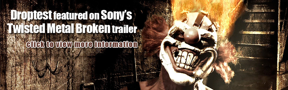 Droptest Featured on Capcom and Sony's Twisted Metal Broken
